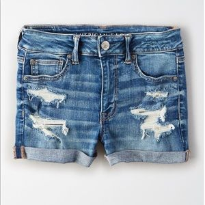 AE Next Level High Waisted Denim Short Short